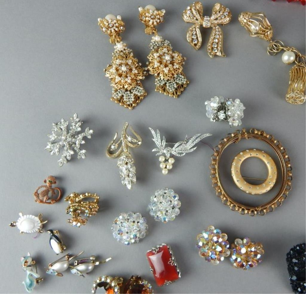 Fifty-Seven Piece Vintage Costume Jewelry - 2