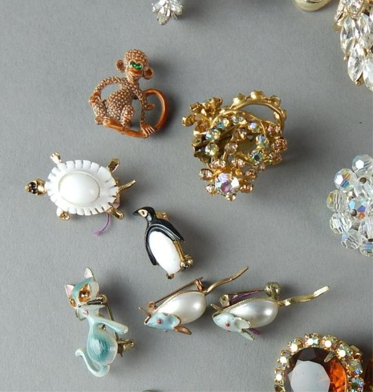 Fifty-Seven Piece Vintage Costume Jewelry - 3