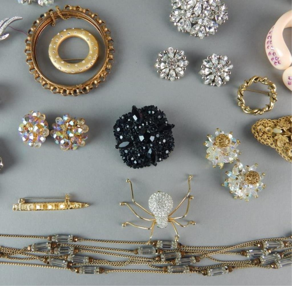 Fifty-Seven Piece Vintage Costume Jewelry - 4