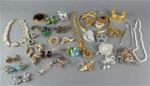 Forty-Two Piece Vintage Designer Costume Jewelry