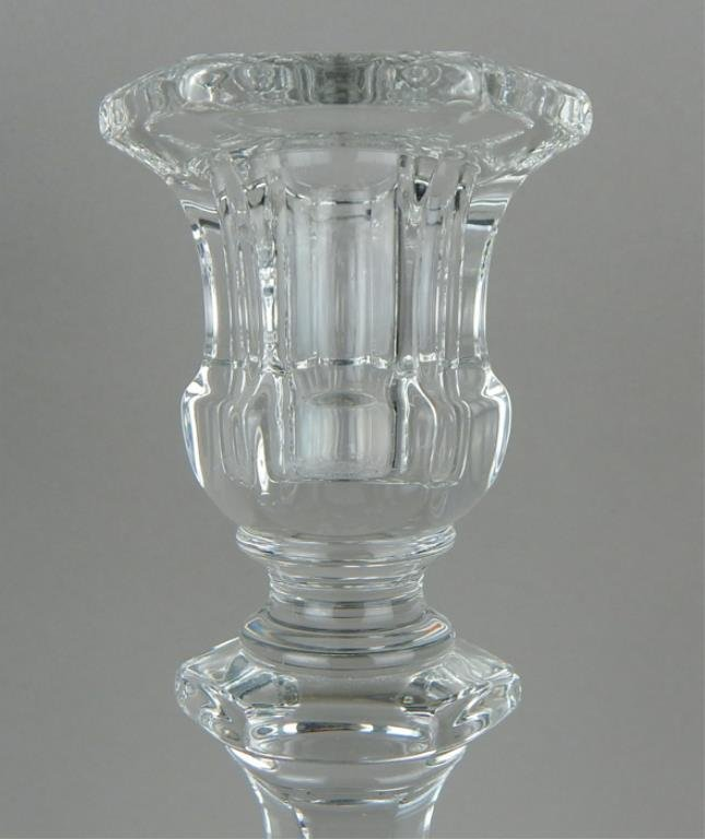 Pair of Heisey Crystal Candle Sticks & Center Bowl - 3