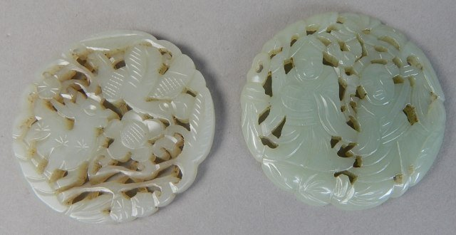 Two Old Chinese Jade Carvings