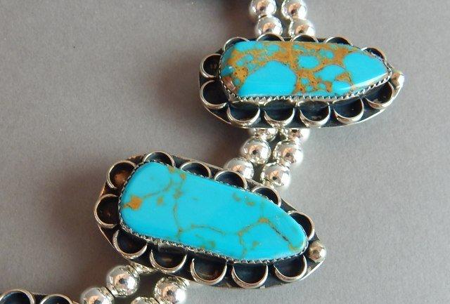 Turquoise Squash Blossom Necklace - 3