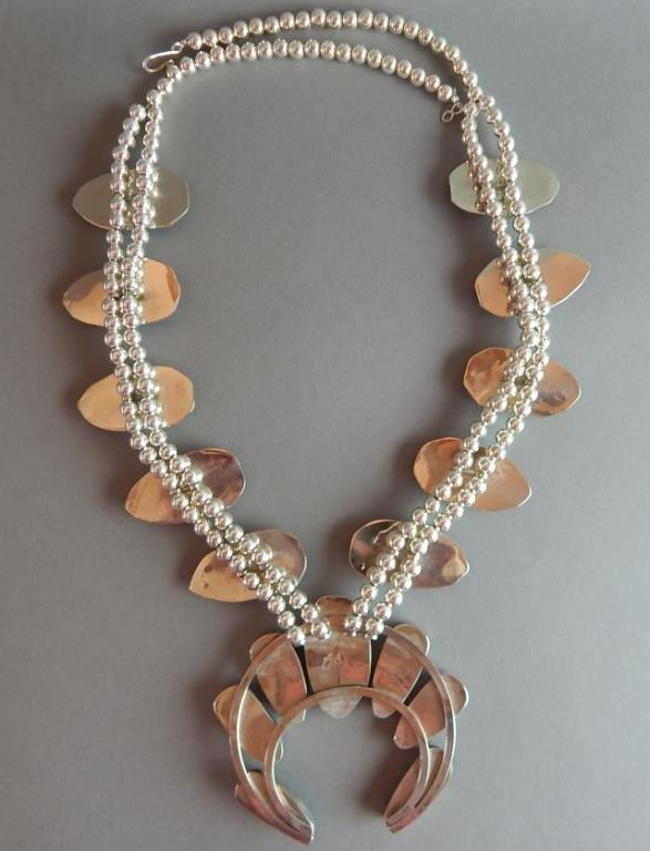 Turquoise Squash Blossom Necklace - 4