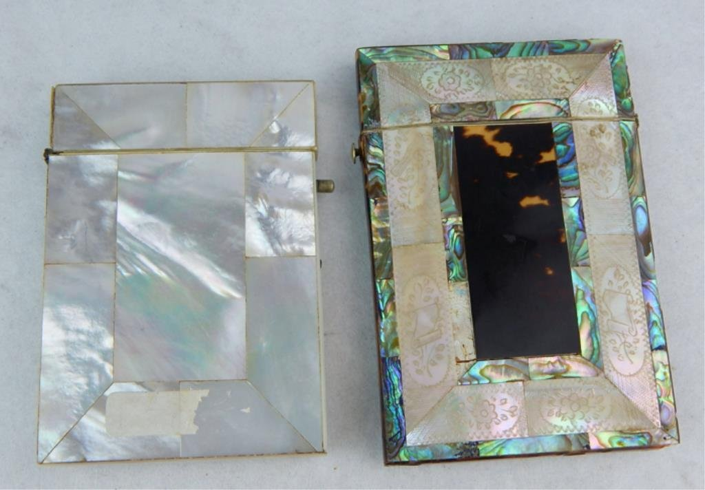 Mother of Pearl and Tortoise Shell Card Cases - 2