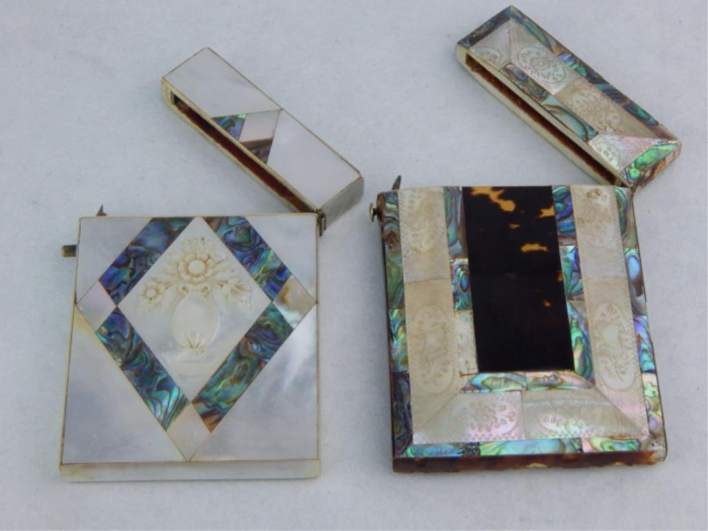 Mother of Pearl and Tortoise Shell Card Cases - 3