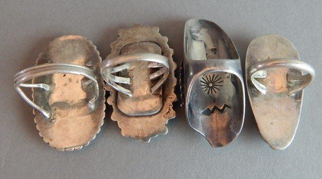 Navajo Zuni Turquoise Old Pawn Rings - 2