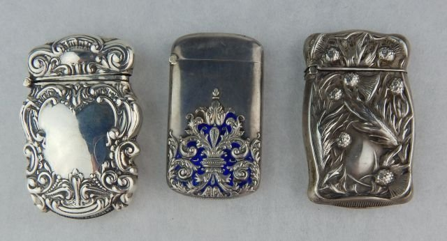 Sterling and Silver Match Safe Group