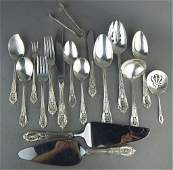 Rose Point By Wallace Sterling Silver Flatware Set