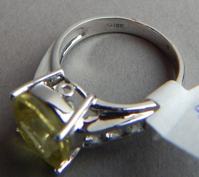 18k White Gold Danburite & Diamond Ring - 5