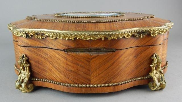 French Box w/ Gilt Ormolu and Porcelain Plaque - 6