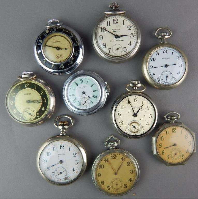 Nine Pocket Watches For Parts