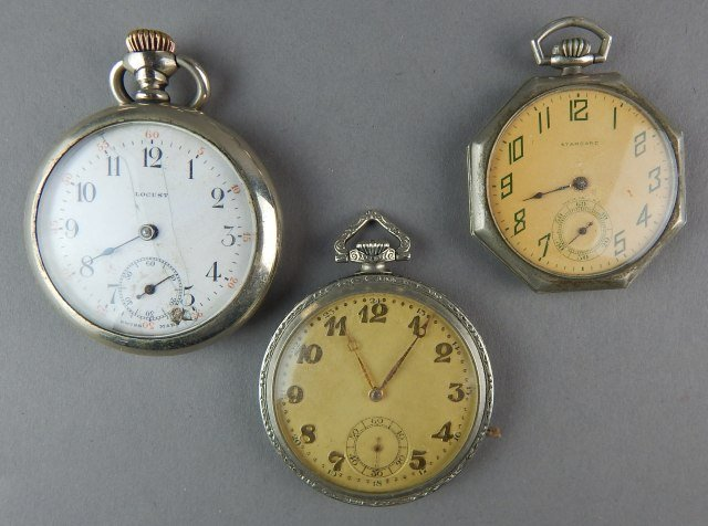 Nine Pocket Watches For Parts - 3