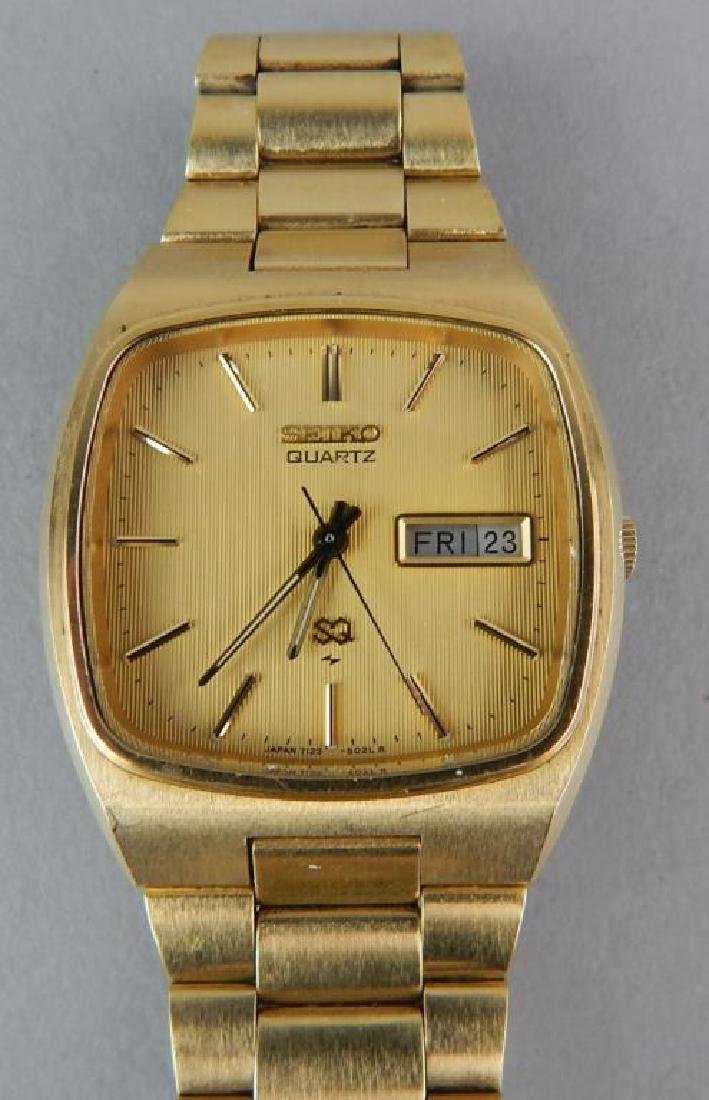 Men's Gold Seiko Quartz Watch