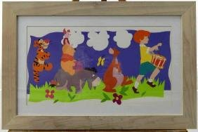 """(215) Walt Disney """"Pooh And Friends"""" Lithograph"""