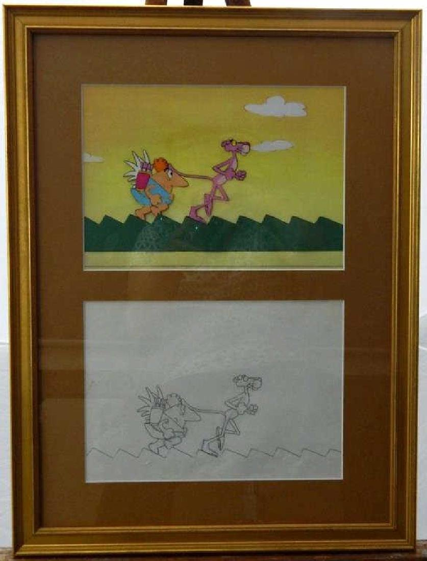 """(245) United Artists """"Pink Panther"""" Cel & Drawing"""