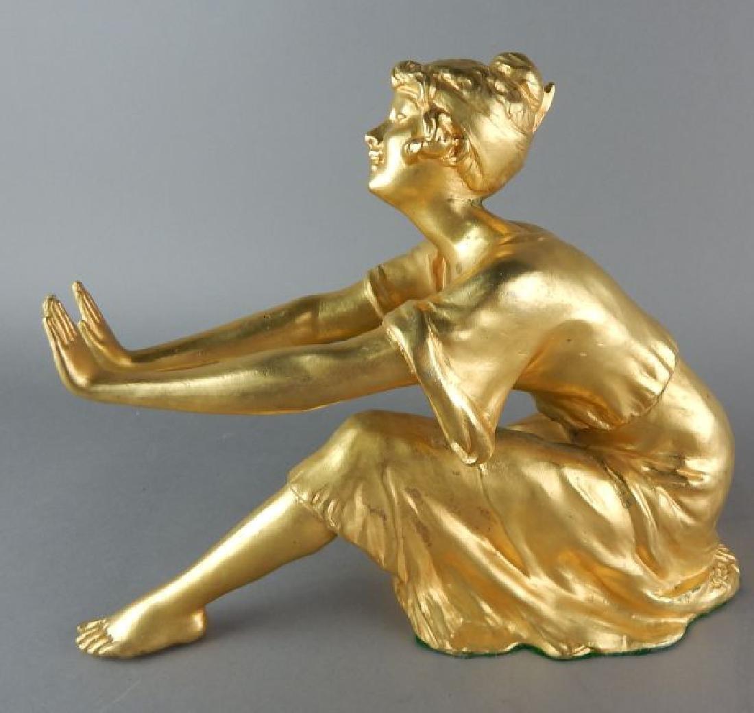 Dore Gilt Bronze French Figure - 3