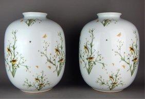 Huge Pair of German Rosenthal Porcelain Vases