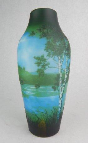 D'Argental Cameo Art Glass Vase