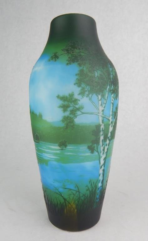 D'Argental Cameo Art Glass Vase