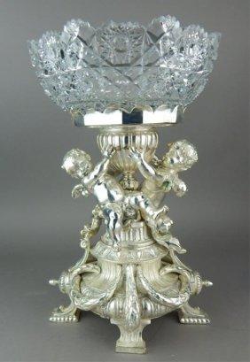 Christofle Style Silvered Bronze Centerpiece