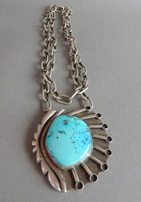 Navajo Turquoise Old Pawn Necklace