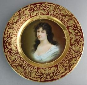 Royal Vienna Portrait of a Lady Plate