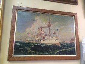 Original Oil on Canvas U.S. Maine