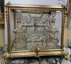 French Gilt Bronze Liqueur Set
