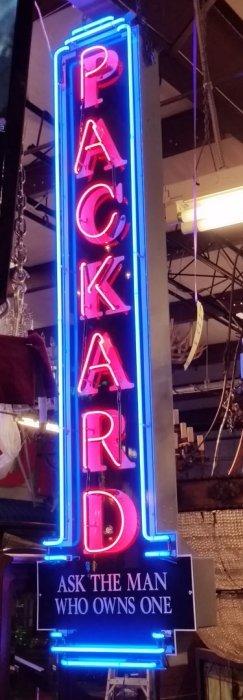 Packard Dealer Neon Sign