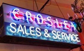 Crosley Sales & Service Neon Sign