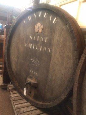 Large French Wine Keg Façade