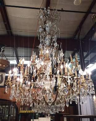Monumental Parisian crystal chandelier