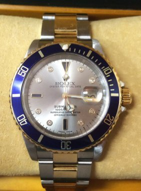 Mens Rolex Submariner with stainless & yellow gold