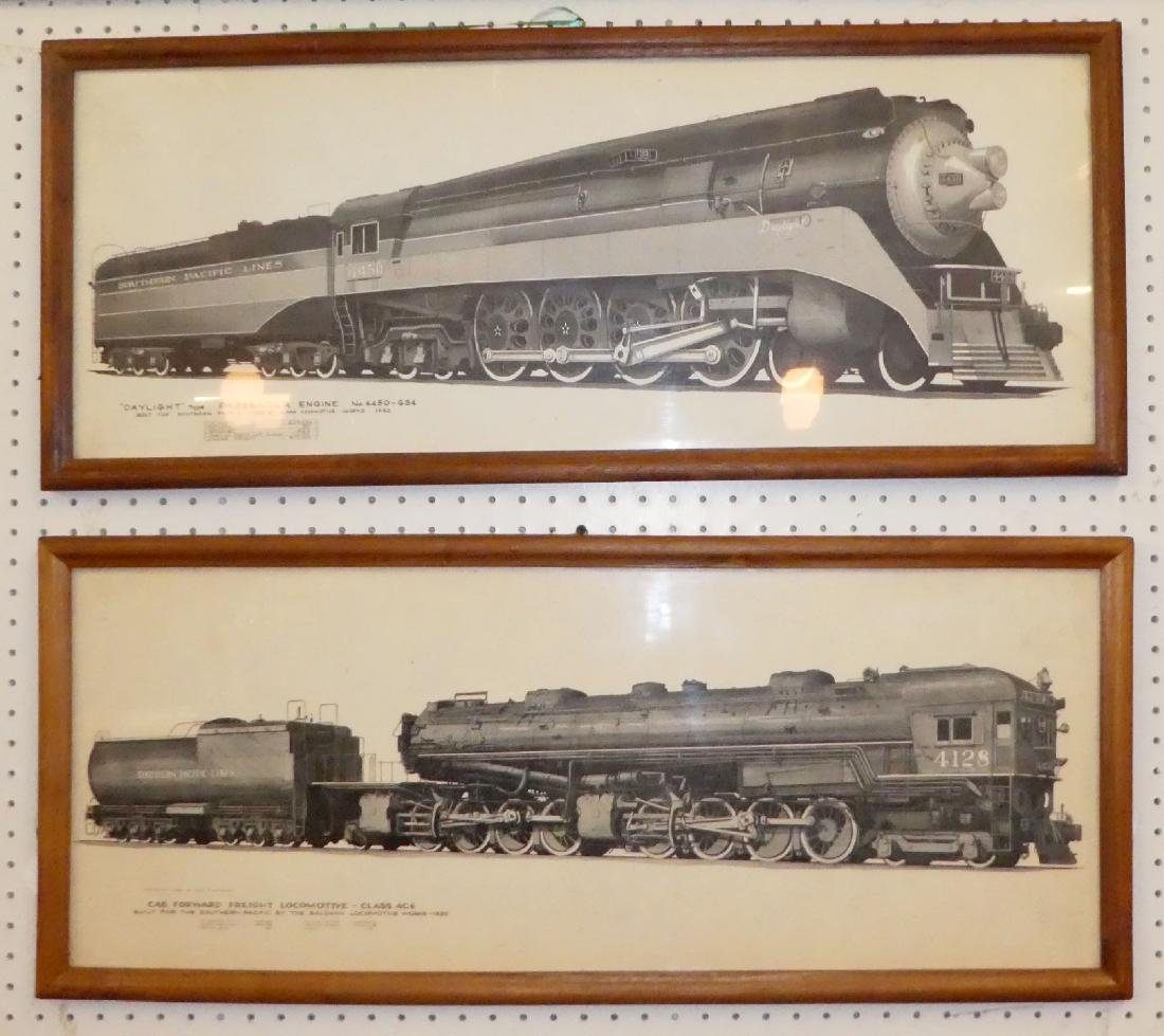 Lot of 2 Southern Pacific railroad drawings