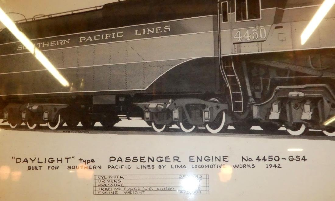 Lot of 2 Southern Pacific railroad drawings - 2