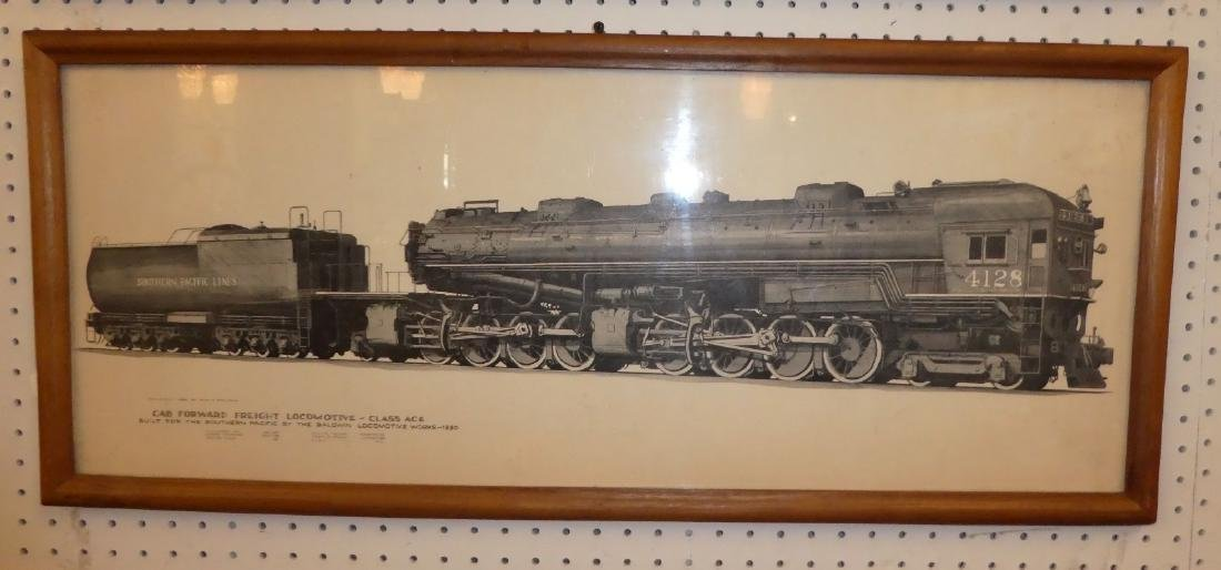 Lot of 2 Southern Pacific railroad drawings - 3