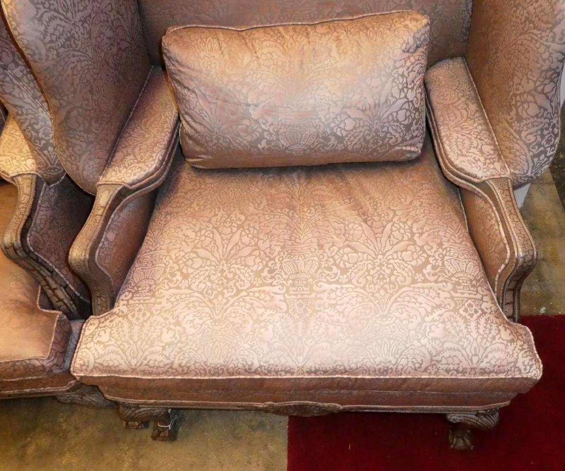 Pair of Lillian August fireside wingback chairs - 6