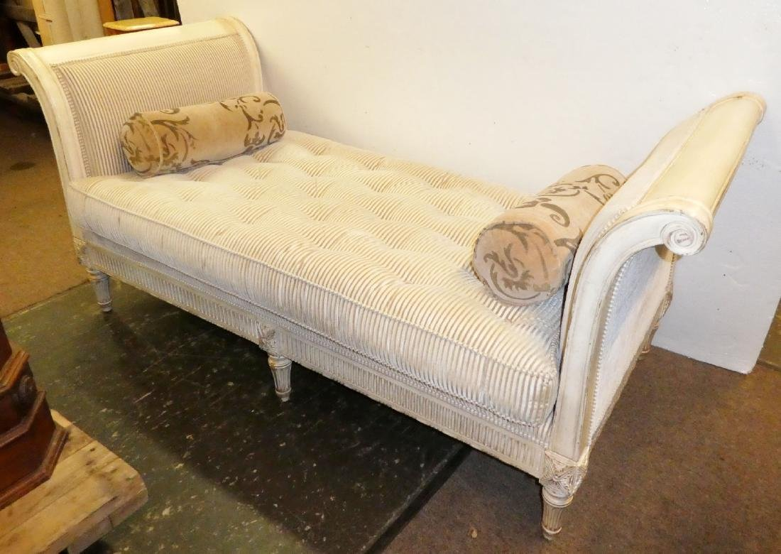 French Louis XV style rolled arm day bed Lillian August
