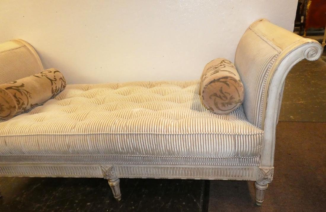 French Louis XV style rolled arm day bed Lillian August - 2