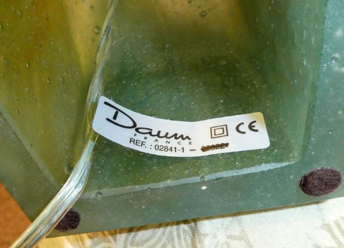 Pair of Daum crystal double heron lamps - 2