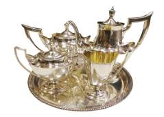 Gorham Plymouth sterling silver 5pc tea set