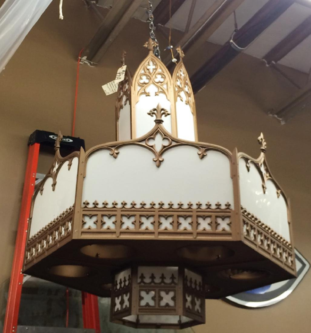 Pair Gothic theatre chandeliers - 2