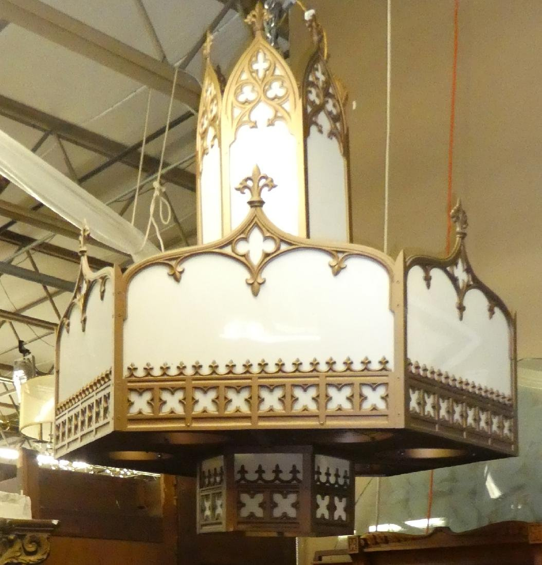Pair Gothic theatre chandeliers - 3