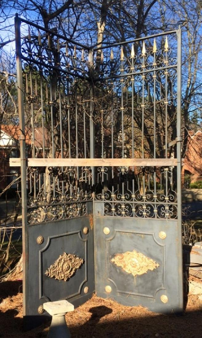 Pair of wrought iron entry doors