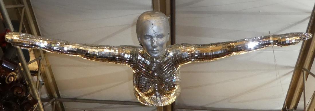Art Modern mirrored sculpture of woman - 2