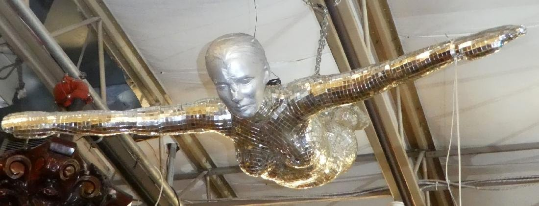 Art Modern mirrored sculpture of woman - 4