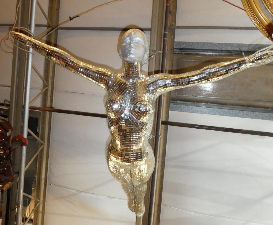 Art Modern mirrored sculpture of woman - 5