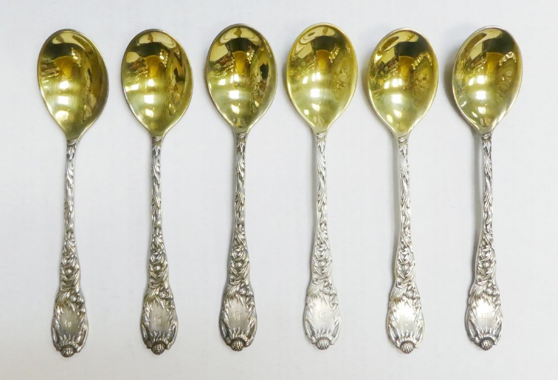 Set of 6 Tiffany & Co sterling silver spoons