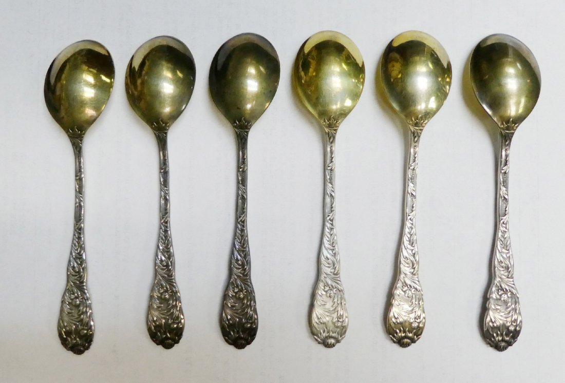 Set of 6 Tiffany & Co sterling silver spoons - 3